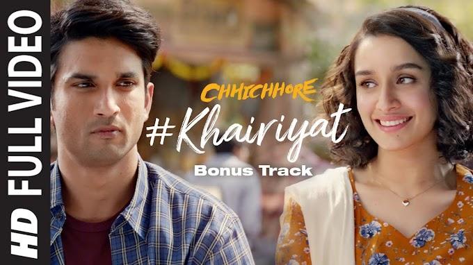 Khairiyat Pucho Lyrics - Chhichhore | Sushant Singh Rajput