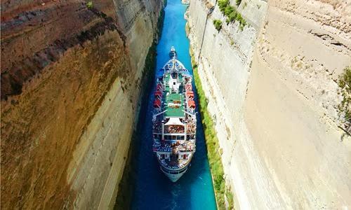 Onde fica o Canal de Corinto