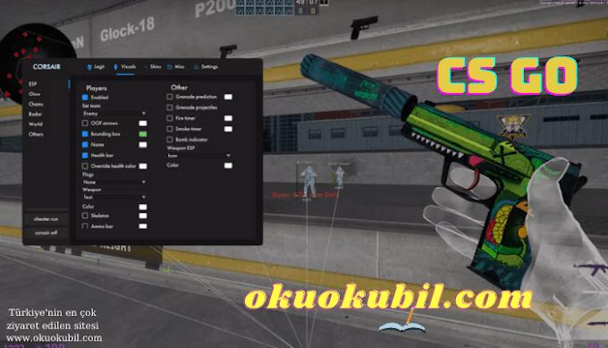 CS GO: Corsair Cheat, Visuals, Legit, Skins Hilesi İndir Nisan