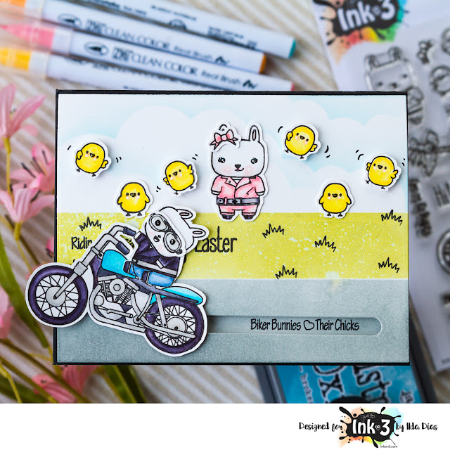 Biker Bunnies Love Their Chicks - Slider Card - Ink On 3