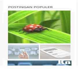 Widget Keren Popular Posts Valid HTML5