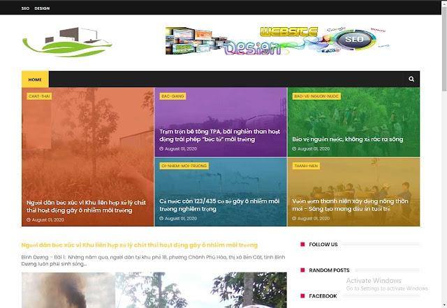 Mẫu website tạp chí môi trường
