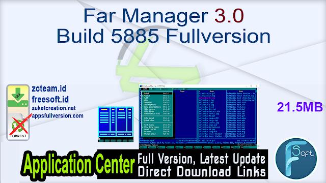 Far Manager 3.0 Build 5885 Fullversion