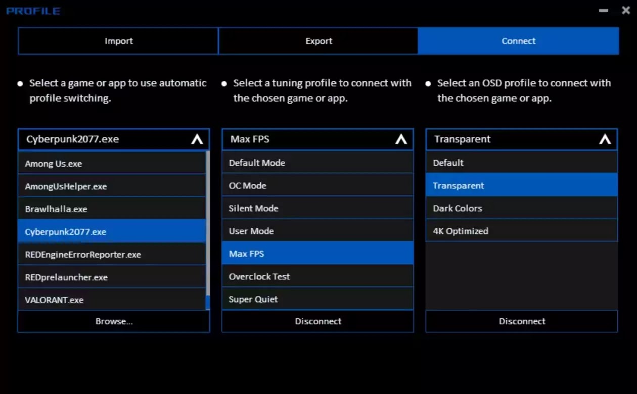 ASUS GPU Tweak III Connect
