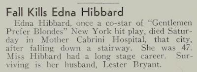 Edna Hibbard Death