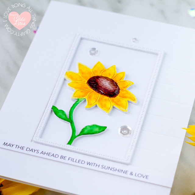 Believe In You Release | Sunflower Cards for Simon Say Stamp by ilovedoingallthingscrafty.com