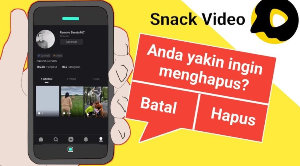 Cara Menghapus Video di Snack Vidio