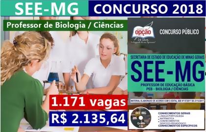 Concurso SEE-MG 2018 Professor de Biologia