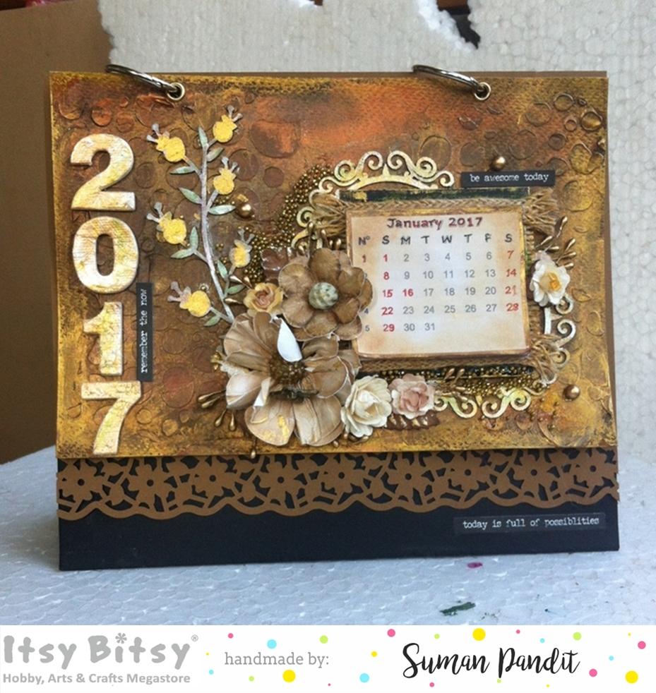 Diy Old Calendar : Itsy bitsy the place diy vintage desk calendar cum