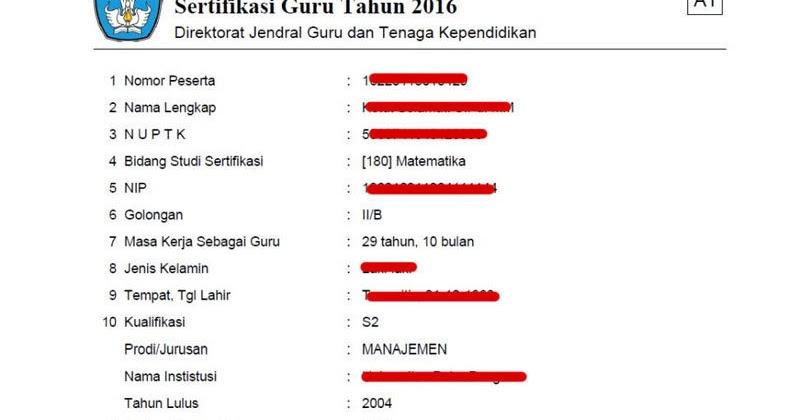 Contoh Format A1 Formulir Pendaftaran Sergur Dirjen Gtk 2016 Operator Sekolah Taman Krocok