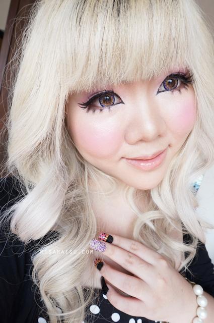 gyaru makeup tutorial shimmering fall canmake candydoll