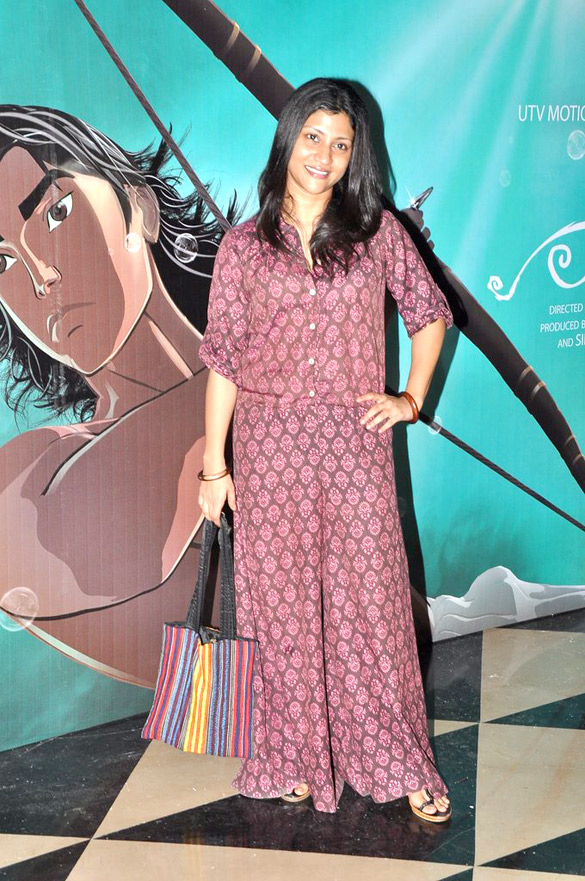 Jaaved Jaaferi & Konkona Sen Sharma at 'Arjun-The Warrior Prince' animation movie premiere