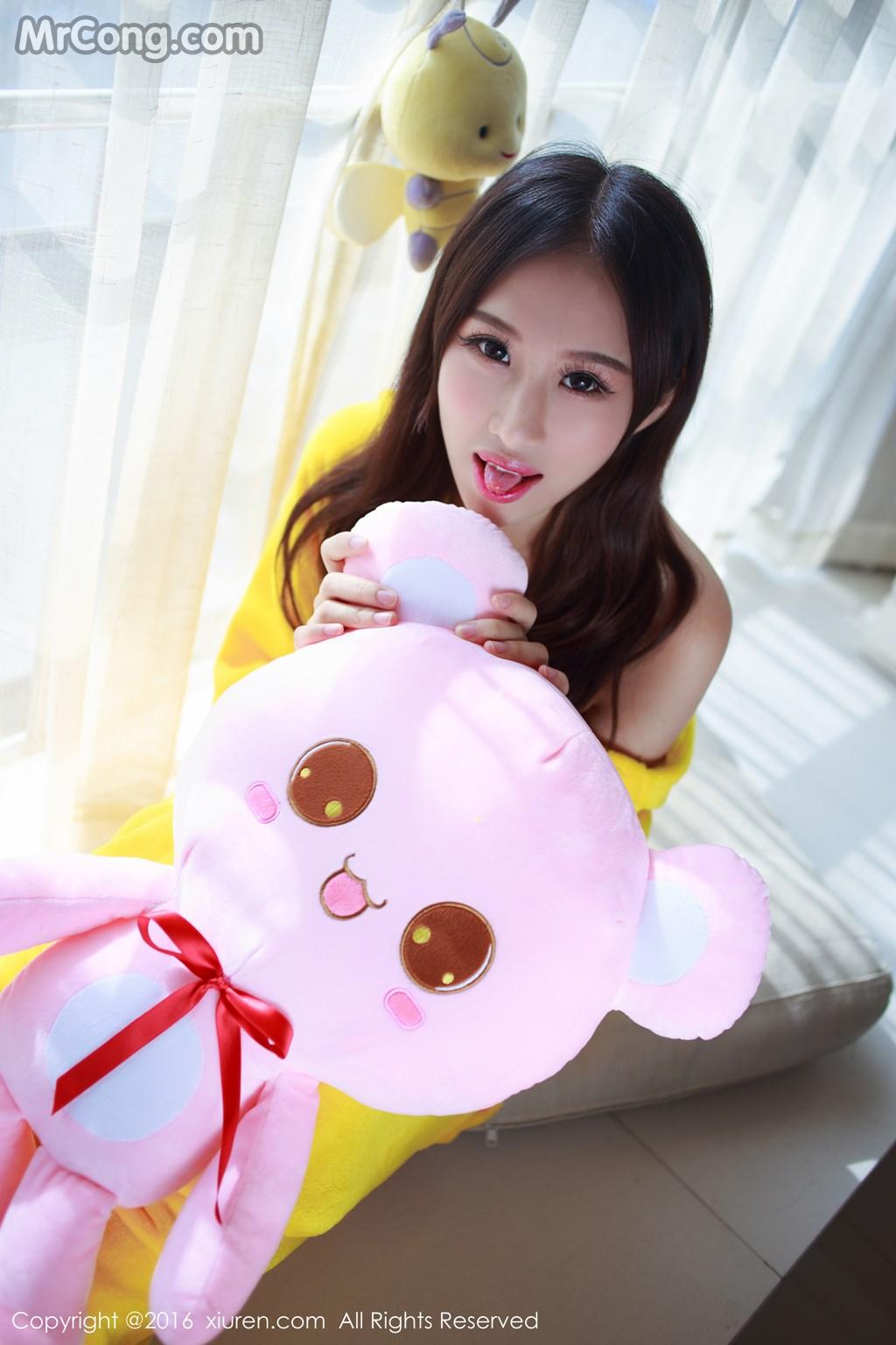 Image MrCong.com-XIUREN-No.646-Yue-Yin-Tong-007 in post XIUREN No.646: Người mẫu Yue Yin Tong (月音瞳) (53 ảnh)