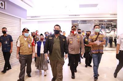 Gubernur Lampung Tinjau Pelaksanaan Protokol Kesehatan di Pusat Perbelanjaan di Malam menjelang Lebaran
