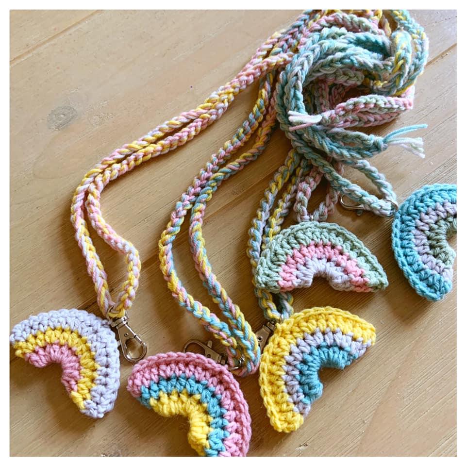 Verrassend Martine de Regt Crochetlife: RAINBOW KEYCHAIN FREE CROCHETPATTERN WA-35