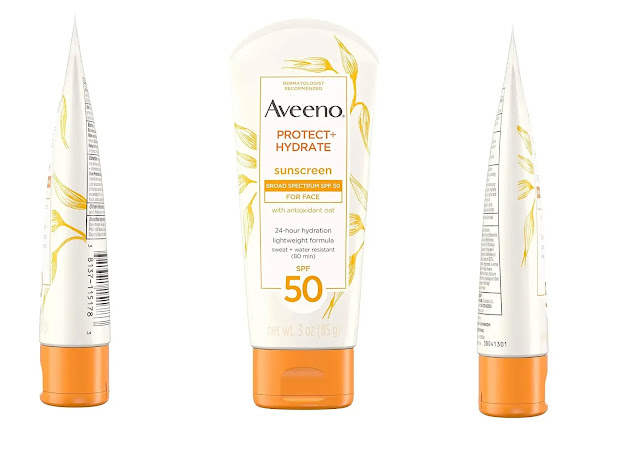 Aveeno sunscreen SPF 50 Protect + Hydrate