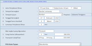 Aplikasi Excel Surat Perintah Perjalanan Dinas (SPPD)