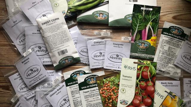 Packets of veg seeds