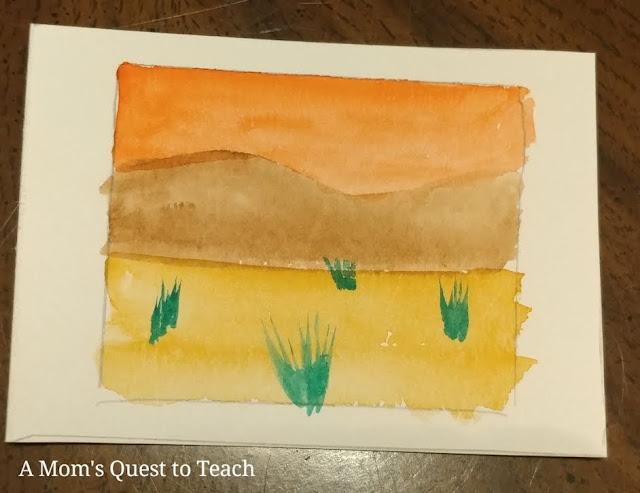desert landscape watercolor painting