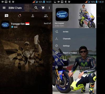 BBM Mod Otomotif Theme MotoGP + Mobil Sport Versi 3.2.5.12