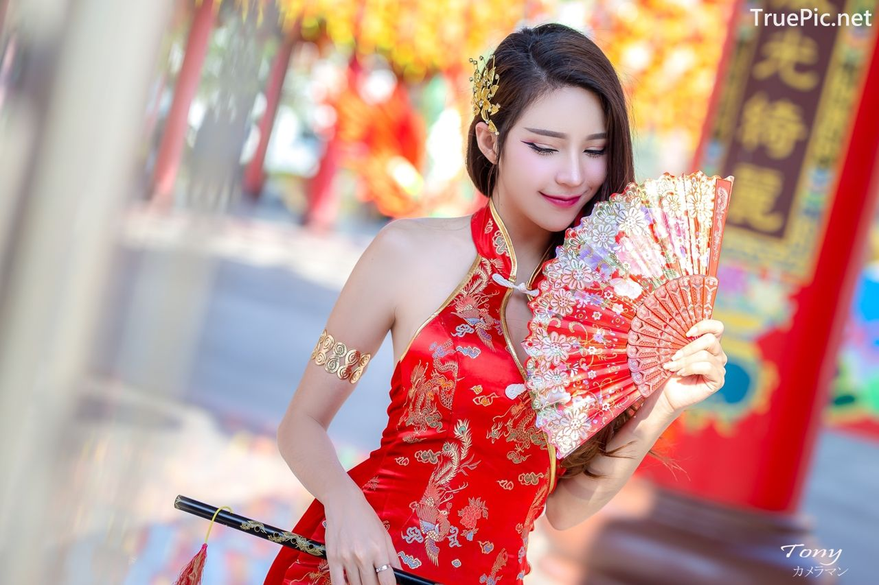 Image-Thailand-Hot-Model-Janet-Kanokwan-Saesim-Sexy-Chinese-Girl-Red-Dress-Traditional-TruePic.net- Picture-6