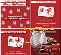 Logo La Feltrinelli: concorso ''Regali in tempo'' e vinci Gift card, Wonderbox e Citroen C1