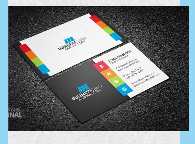 tarjeta de presentación colores