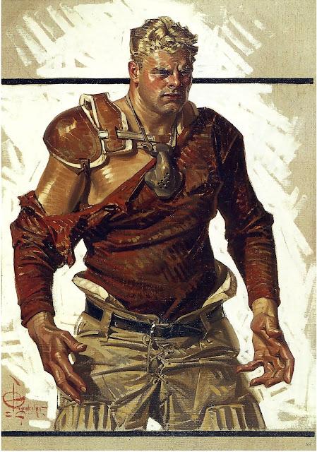 Joseph Christian Leyendecker (1874-1951) Football Hero,1916. Colliers, November-18-1916