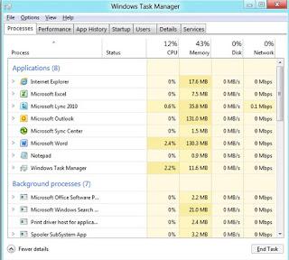 windows 8 task manager windows 8