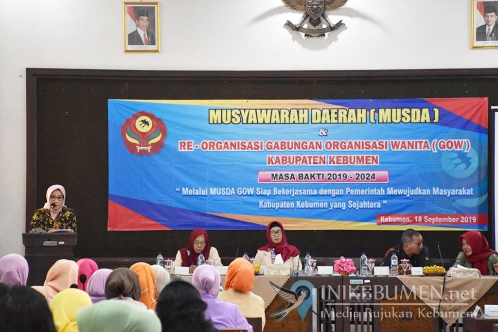 Dede Siswoyo Kembali Pimpin GOW Kabupaten Kebumen
