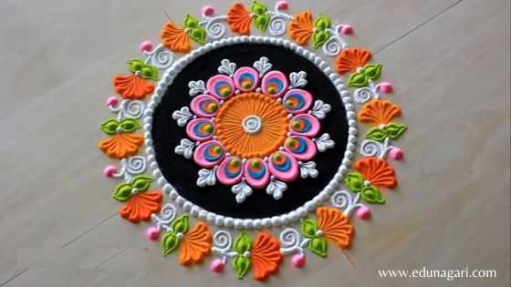 Diwali rangoli latest design