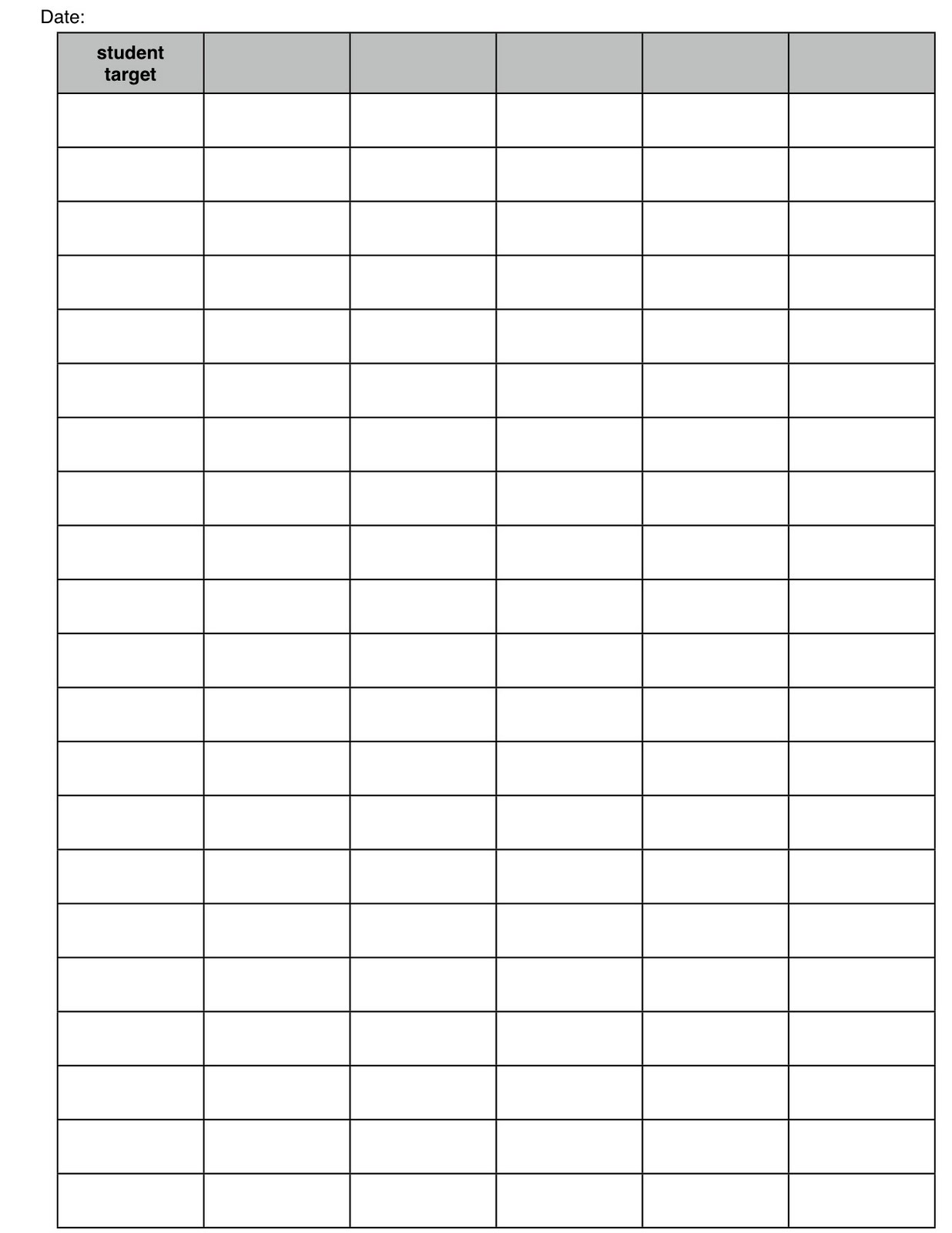 Template To Assess Elementary Students Monthly