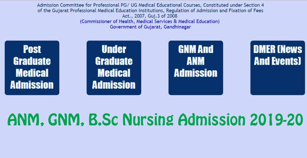 medadmgujarat-Gujarat-Nursing-Admission-2019-20-ANM-GNM-B Sc-Nursing