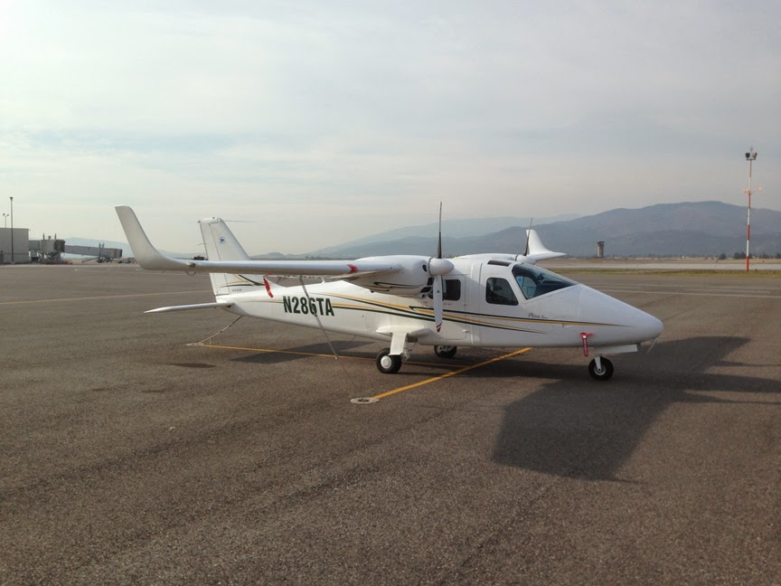 The TECNAM takes another daily pit stop in Missoula International Airport in west Montana. (Photo by Ash Burrill)