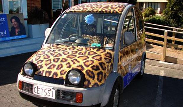 Mini auto animal print