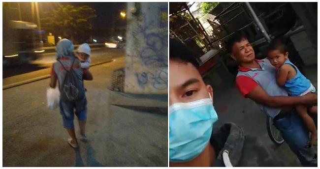 Mag-amang palaboy-laboy sa kalsada, ipinanawagan ng tulong ng isa nating netizen
