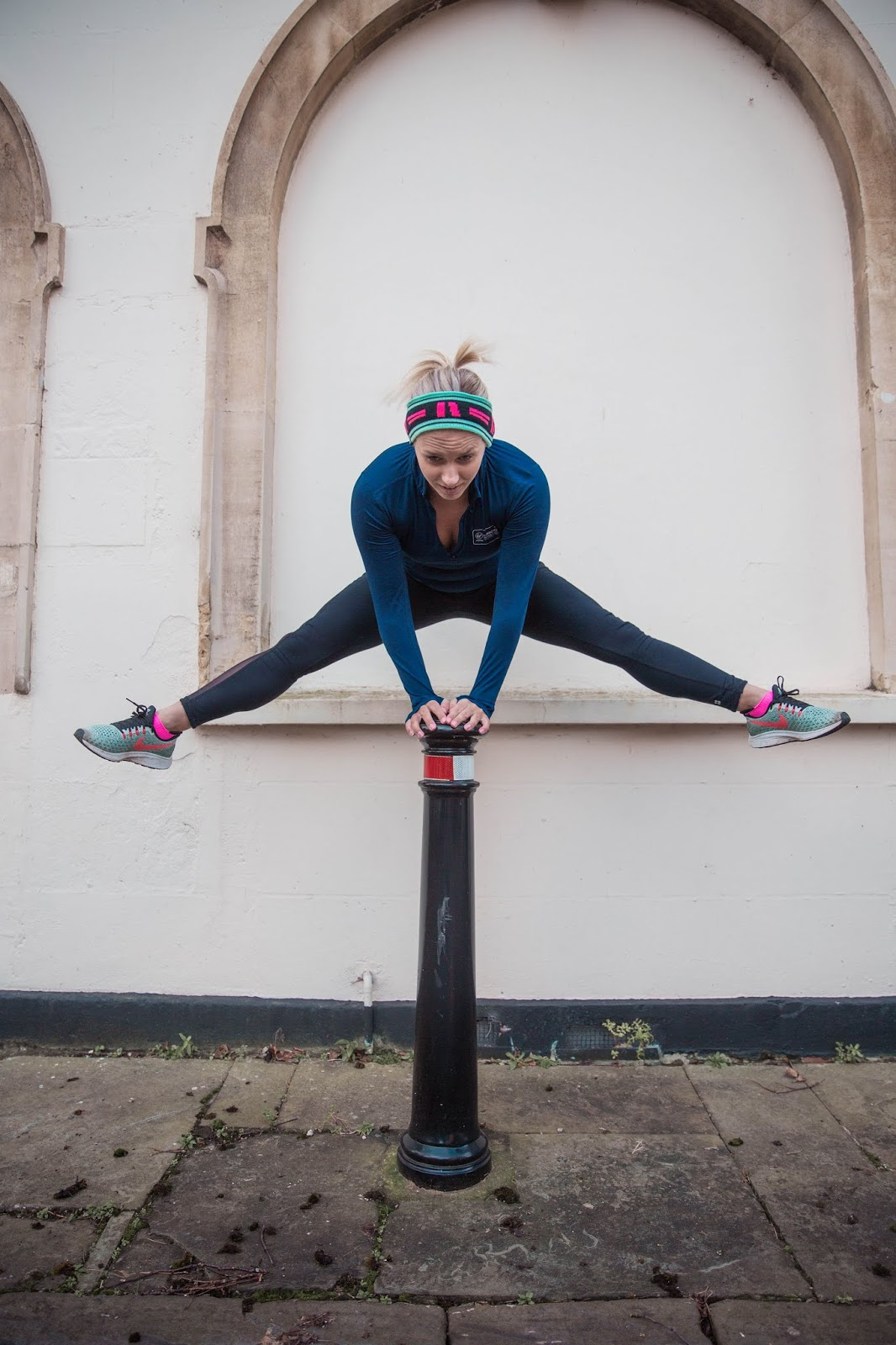 Rachel Emily Leaping over a bollard into 2020 - Rachel Emily Blog