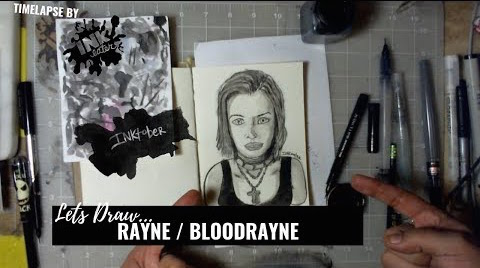 We drew Rayne From BloodRayne - Bad Ass Ladies of Horror - Inktober 2018