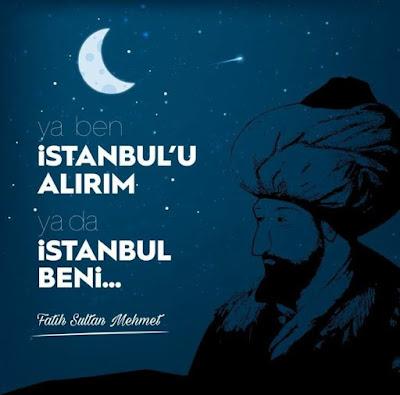 """""""Ya ben İstanbul'u alırım ya da İstanbul beni..."""" (Fatih Sultan Mehmed) Rabbim ecdadımıza Rahmet Eylesin, osmanlı, türk, türkiye, TC, selçuklu, karahanlı, hun, Fatih Sultan Mehmed, istanbul, kostantinapolis, islambol, boğazlar, dünyanın en güzel şehri, ayyıldız, ay, yıldızlar"""