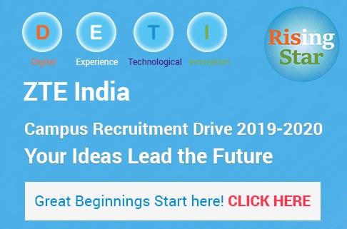 ZTE India Off Campus Recruitment Drive | BE/BTech | 2020 Batch