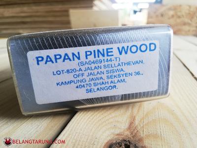 Alamat Papan Pine Wood Shah Alam