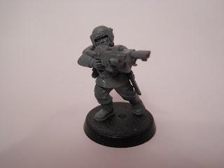 Shadow War: Armageddon cadian kill team veteran with lasgun