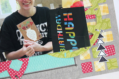 Celebrate Good Times Layout by Juliana Michaels using My Favorite Things Stamps and Dies