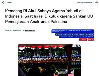 Viral Kabar Permerintah Akui Sahnya Agama Yahudi, Ternyata Seperti Ini Fakta-Faktanya