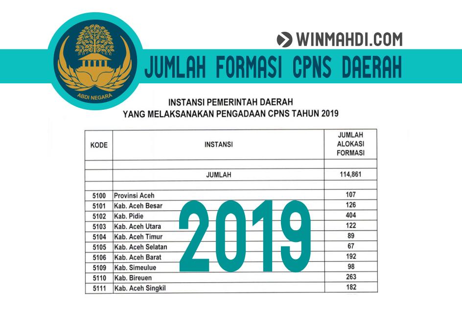 Formasi CPNS 2019 Daerah Aceh