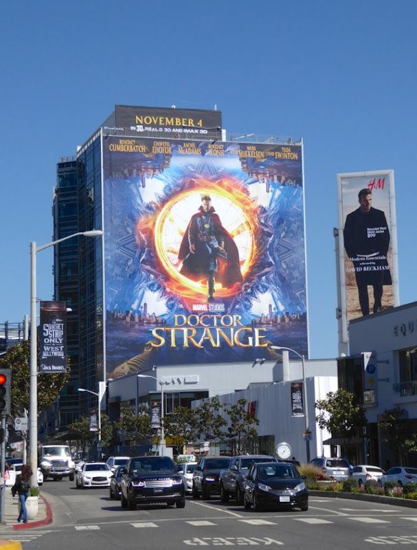 Doctor Strange movie billboard