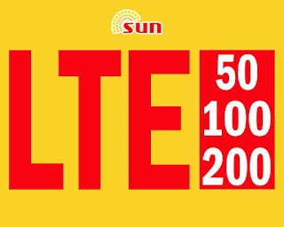 Sun LTE Internet Promo – Offers LTE50, LTE100 and LTE200