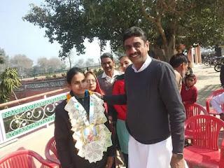 मूकबधिर खिलाड़ी रेणु बिश्नोई को स्वर्ण जीतने पर बिश्नोई सभा हिसार प्रधान बैनीवाल ने किया सम्मानित | Bishnoism