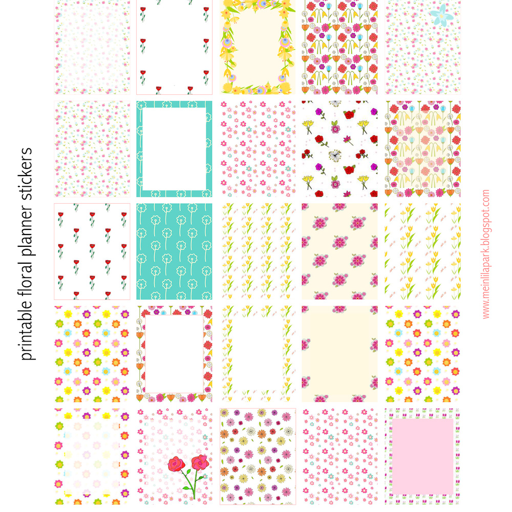 free printable floral planner stickers - ausdruckbare sticker