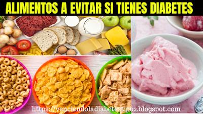 lista de alimentos para diabeticos